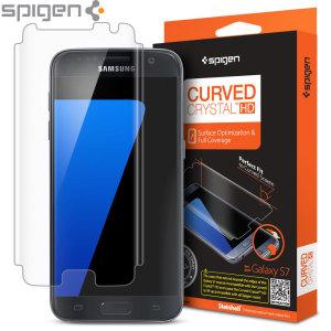 Proporciona una claridad inigualable mientras protege la pantalla de su Samsung Galaxy S7. La gama Crystal HD fabricada por Spigen, protege la pantalla contra golpes y arañazos y cubre el 100% de la pantalla, incluyendo los lados curvos del teléfono.