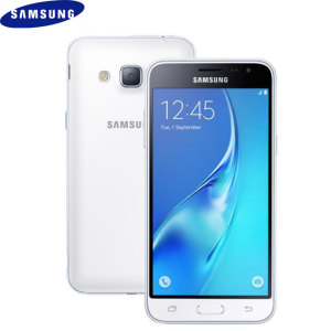 Unlocked 8GB Samsung Galaxy J3 2016 in white. With a 5 inch display featuring a 720 x 1280 resolution, 8MP camera and running Android 5.1 - this Samsung smartphone is ready for anything you can throw at it.
