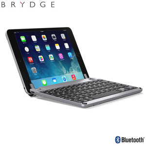 This durable highly stylish BrydgeMini 2 iPad aluminium Bluetooth keyboard case in Space Grey lets you type faster, while at the same time protecting your iPad Mini 4 and also features backlit keys.