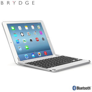 "This durable highly stylish BrydgeAir iPad aluminium Bluetooth keyboard case in silver lets you type faster, while at the same time protecting your iPad 9.7 2017, Pro 9.7"", Air 2 or Air and also features backlit keys and built-in stereo speakers."