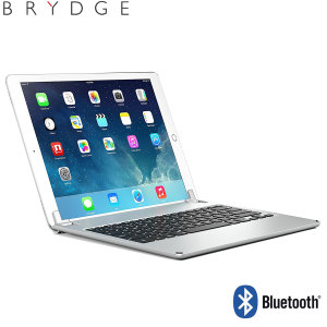 "This durable highly stylish Brydge iPad aluminium Bluetooth keyboard case in silver lets you type faster, while at the same time protecting your iPad Pro 12.9"" and also features backlit keys."