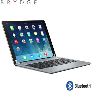 "This durable highly stylish Brydge iPad aluminium Bluetooth keyboard case in space grey lets you type faster, while at the same time protecting your iPad Pro 12.9"" and also features backlit keys."