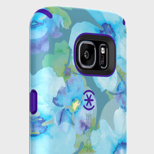 The CandyShell Inked in Aqua Floral Blue / UltraViolet Purple by Speck is a scratch-resistant and beautifully coloured case. Its two layers of protection meet the military drop test to ensure maximum protection for your Samsung Galaxy S7.