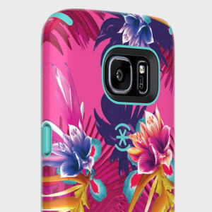 The CandyShell Inked in Wild Tropic Fuchsia / Mykonos Blue by Speck is a scratch-resistant and beautifully coloured case. Its two layers of protection meet the military drop test to ensure maximum protection for your Samsung Galaxy S7.