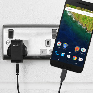 Charge your Nexus 6P and any other USB device quickly and conveniently with this compatible 2.5A high power USB-C UK charging kit. Featuring a UK wall adapter and USB-C cable.