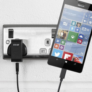 Charge your Microsoft Lumia 950 XL and any other USB device quickly and conveniently with this compatible 2.5A high power USB-C UK charging kit. Featuring a UK wall adapter and USB-C cable.