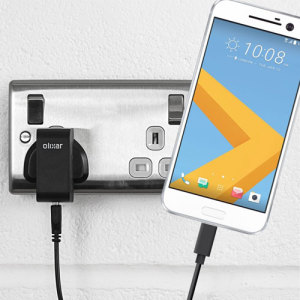 Charge your HTC 10 and any other USB device quickly and conveniently with this compatible 2.5A high power USB-C UK charging kit. Featuring a UK wall adapter and USB-C cable.