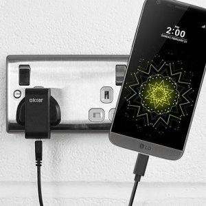 Charge your LG G5 and any other USB device quickly and conveniently with this compatible 2.5A high power USB-C UK charging kit. Featuring a UK wall adapter and USB-C cable.