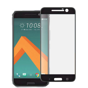 Keep your HTC 10's screen in pristine condition with this Olixar Tempered Glass screen protector, designed to fully cover the front of the phone. Black edges match the black phone perfectly.