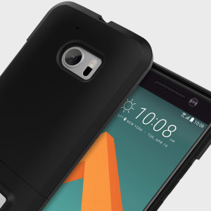 A sleek and slimline soft-touch black case for the HTC 10. Offering superb protection, minimal bulk and integrated kickstand for viewing media.