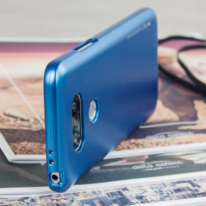 A premium gel case for your LG G5. The Mercury Goospery iJelly features a superb metallic blue UV finish and robust high quality TPU gel material that will take all the knocks and look fabulous while doing so.