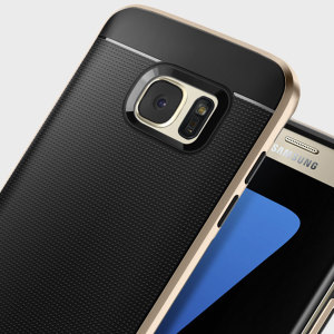 The Spigen Neo Hybrid in champagne gold is the new leader in lightweight protective cases. The new Air Cushion Technology corners reduce the thickness of the case while providing optimal protection for your Samsung Galaxy S7 Edge.
