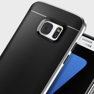 The Spigen Neo Hybrid in satin silver is the new leader in lightweight protective cases. The new Air Cushion Technology corners reduce the thickness of the case while providing optimal protection for your Samsung Galaxy S7 Edge.