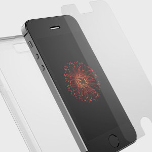Keep your iPhone SE fully protected with this amazing bundle pack feature an OtterBox gel case and tempered glass screen protector. The slim and clear design shows off your SE's sleek aesthetics while it stays well guarded.