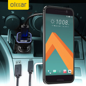 Keep your HTC 10 fully charged on the road with this compatible Olixar high power dual USB 3.1A Car Charger with an included high quality USB to USB-C charging cable.