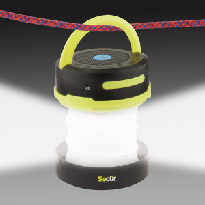 Secur Rugged Bluetooth Speaker Lantern and Flashlight