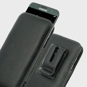 Protégez votre Samsung Galaxy S7 Edge avec ce très élégant étui vertical en cuir de marque Pdair. Cet étui saura parfaitement loger votre S7 Edge et vous permettra de le transporter confortablement grâce à un clip ceinture intégré.