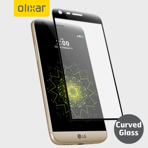 Keep your LG G5's screen in pristine condition with this Olixar Tempered Glass screen protector, designed to cover and protect even the curved upper edge of the phone's unique display.