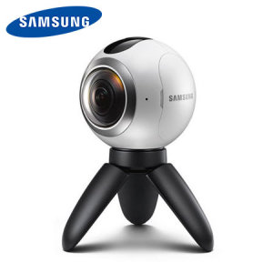Capture everything and relive the moments you'll never want to forget from every angle through your Gear VR and Galaxy smartphone with the Samsung Gear 360 virtual reality camera. Producing true 360 images, via two 180 degree lenses.