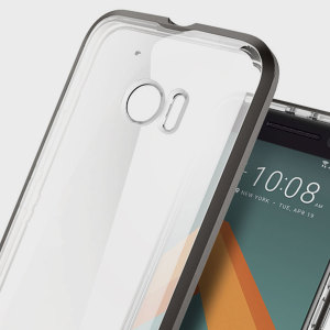 Coque HTC 10 Spigen Neo Hybrid Crystal – Gunmetal / Transparent