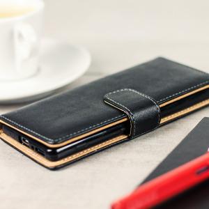 Esta funda Olixar de tipo cartera, además de proteger su Sony Xperia XA de posibles roturas o arañazos, también añade la función de cartera gracias a sus ranuras interiores para almacenar tarjetas y/o documentos.