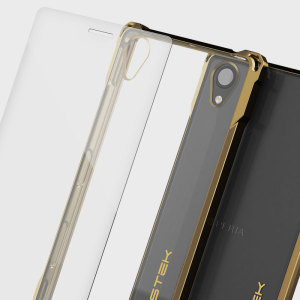 The Covert Protective bumper case in gold and clear from Ghostek comes complete with a tough tempered glass screen protector to provide your Sony Xperia X with fantastic all round protection, whilst highlighting its superb design.