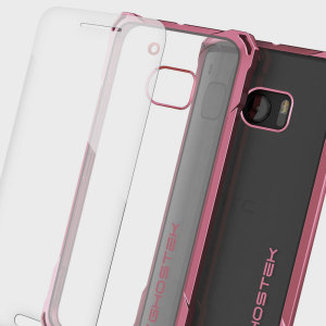 Coque HTC 10 Ghostek Covert - Transparent / Rouge