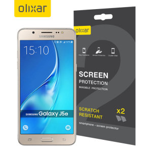 Keep your J5 2016's screen in pristine condition with this Olixar scratch-resistant screen protector 2-in-1 pack.