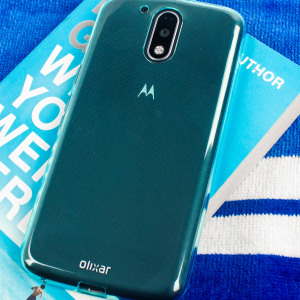 Custom moulded for the Lenovo Moto G4 Plus this blue FlexiShield case by Olixar provides slim fitting and durable protection against damage.