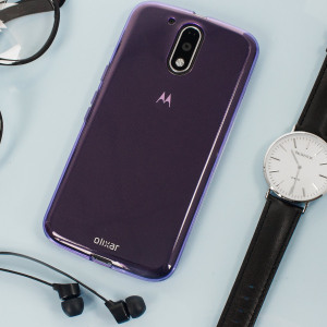 Custom moulded for the Lenovo Moto G4 Plus this purple FlexiShield case by Olixar provides slim fitting and durable protection against damage.