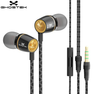 Ghostek Turbine Series HD Sound Hands-Free Earphones - Black / Gold