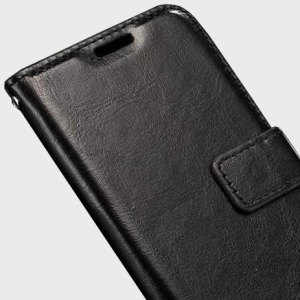 The Olixar Wallet Case in black sticks to the back of your Samsung Galaxy J7 2016 to provide enclosed protection and can also be used to hold your credit cards.