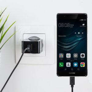 Laden Sie Ihr Huawei P9 oder anderes USB Gerät mit dem Olixar High Power 2.4A EU Ladeadapter und USB-C Kabel in einem Set.