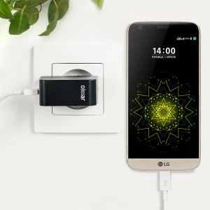 Charge your LG G5 and any other USB device quickly and conveniently with this compatible 2.4A high power USB-C EU charging kit. Featuring an EU wall adapter and USB-C cable.