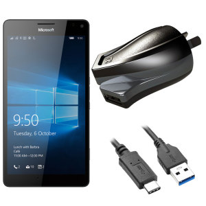 Charge your Microsoft Lumia 950 XL and any other USB device quickly and conveniently with this compatible 2.4A high power USB-C Australian charging kit. Featuring an AUS wall adapter and USB-C cable.