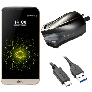 Charge your LG G5 and any other USB device quickly and conveniently with this compatible 2.4A high power USB-C Australian charging kit. Featuring an AUS wall adapter and USB-C cable.