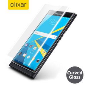 Keep your BlackBerry Priv's screen in pristine condition with this Olixar Tempered Glass screen protector, designed to cover and protect even the curved edges of the phone's unique display for true full cover edge-to-edge screen protection.