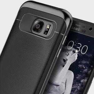 Gemaakt van robuuste TPU en robuuste polycarbonaat en voorzien van een prachtig gevlochten gripontwerp, houdt de Wavelength Series hardcase uw Galaxy S7 Edge veilig, slank en stijlvol.