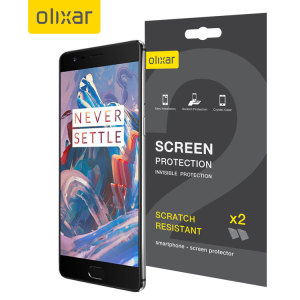 Keep your OnePlus 3T / 3 screen in pristine condition with this Olixar scratch-resistant screen protector 2-in-1 pack.