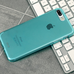 Coque iPhone 7 Plus Olixar FlexiShield en gel – Bleue