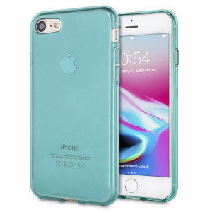 Coque iPhone 7 Olixar FlexiShield en gel – Bleue