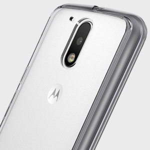 Protect the back and sides of your Motorola Moto G4 with this incredibly durable, crystal clear backed Fusion Case by Ringke with a smoke black frame.