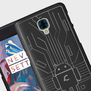 Keep your OnePlus 3T / 3 protected from damage with this Android-circuitry inspired, durable black coloured TPU case by Cruzerlite.