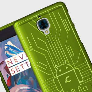 Keep your OnePlus 3T / 3 protected from damage with this Android-circuitry inspired, durable green coloured TPU case by Cruzerlite.