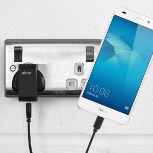 Charge your Huawei Honor 5C quickly and conveniently with this compatible 2.4A high power charging kit. Featuring mains adapter and USB cable.