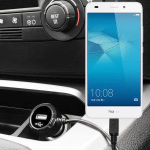 Houdt je Huawei Honor 5C volledig opgeladen met deze Olixar high power  2.4A autolader, met uitschuifbare spiraalsnoer ontwerp. Als een toegevoegde bonus, krijg je een extra USB-apparaat om op te laden via de ingebouwde USB-poort!