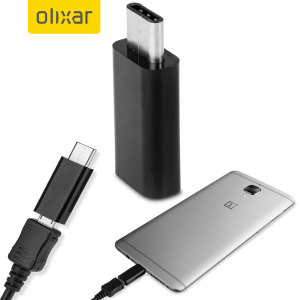 Charge your USB Type-C OnePlus 3T / 3 via a standard Micro USB charging cable with the Olixar Micro USB to USB-C Adapter.