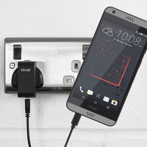 Charge your HTC Desire 530 / 630 quickly and conveniently with this 2.1A high power charging kit. Featuring mains adapter and USB cable.