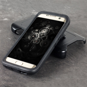 Protect your Samsung Galaxy S7 Edge with the toughest and most protective case on the market - the OtterBox Defender Series in black.