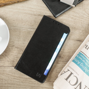 Protect your Samsung Galaxy Note 7 with this durable and stylish black leather-style wallet case from Olixar. What's more, this case transforms into a handy stand to view media.